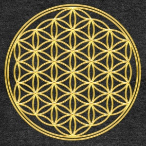 Flower of Life, Spiritual Healing Symbol, Sacred Geometry, Yoga, T-Shirts - Women's Boat Neck Long Sleeve Top