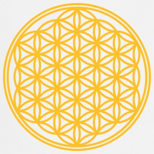 Vector - Flower of Life - 01, 1c, sacred geometry, energy, symbol, powerful, healing, protection, cl Camisetas - Delantal de cocina