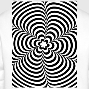 Optical illusion (Impossible) Black & White OP-Art T-Shirts - Men's Premium Hoodie