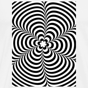 Optical illusion (Impossible) Black & White OP-Art Hoesjes voor mobiele telefoons & tablets - Mannen Premium T-shirt