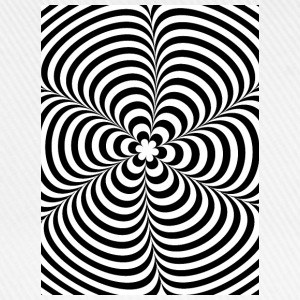 Optical illusion (Impossible) Black & White OP-Art Shirts - Baseball Cap