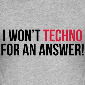Techno For An Answer  Hoodies & Sweatshirts - Men's Slim Fit T-Shirt