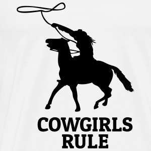 Cowgirls rule cowgirls regel Tops - Mannen Premium T-shirt