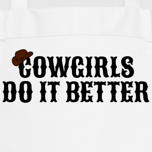 Cowgirls do it better będe to lepiej Bluzy - Fartuch kuchenny