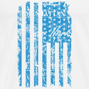 USA - NewYork - Flag   Vintage Look Topper - Premium T-skjorte for menn
