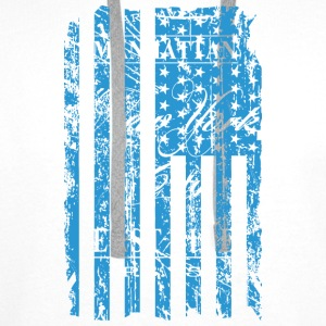 USA - NewYork - Flag   Vintage Look T-Shirts - Men's Premium Hoodie
