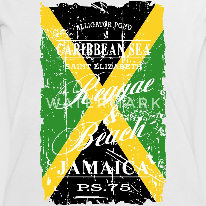 Jamaica Flag - Vintage Look T-Shirts - Women's Ringer T-Shirt