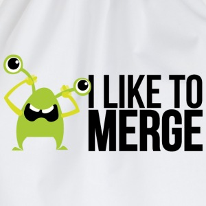 Monster mit I like to merge Magliette - Sacca sportiva