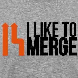 I love merge Hoodies & Sweatshirts - Men's Premium T-Shirt