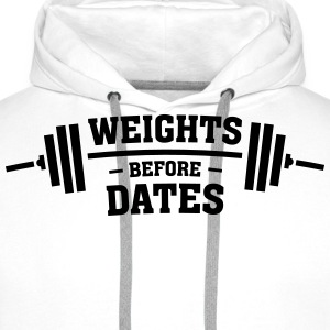 Weights Before Dates T-shirts - Herre Premium hættetrøje