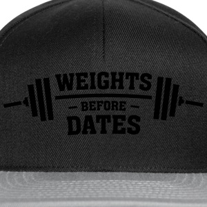 Weights Before Dates Sweat-shirts - Casquette snapback