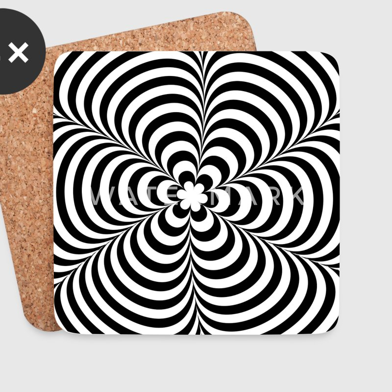 Optical illusion (Impossible) Black & White OP-Art Mugs & Drinkware - Coasters (set of 4)