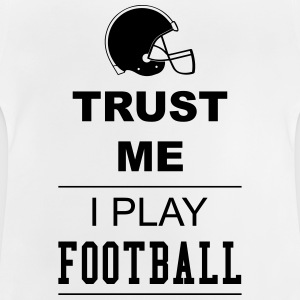 Trust me I play Football 1c Manga larga - Camiseta bebé