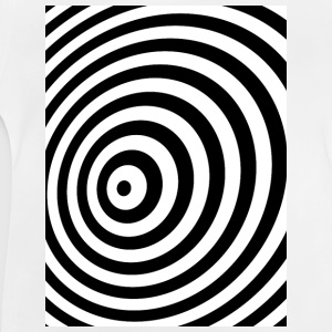 Minimum Geometry illusie in Black & White OP-ART Shirts met lange mouwen - Baby T-shirt