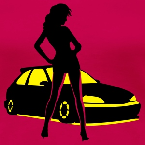 Car Tuning Girl Langarmshirts - Frauen Premium T-Shirt