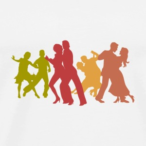 Colorful Tango Dancers  - Men's Premium T-Shirt