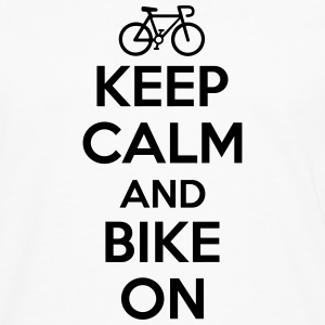 Keep calm and bike on Tank Tops - Men's Premium Longsleeve Shirt