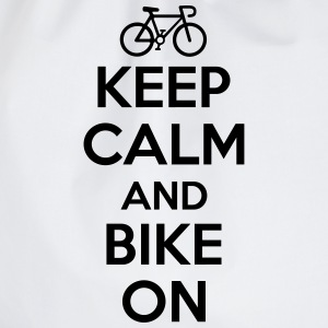 Keep calm and bike on Långärmade T-shirts - Gymnastikpåse