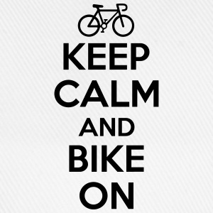 Keep calm and bike on Långärmade T-shirts - Basebollkeps