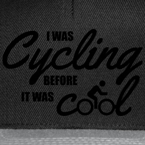 I was cycling before it was cool Camisetas - Gorra Snapback