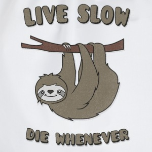 Funny & Cute Sloth Live Slow Die Whenever Slogan Manches longues - Sac de sport léger