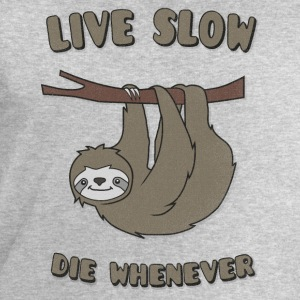 Funny & Cute Sloth Live Slow Die Whenever Slogan Manches longues - Sweat-shirt Homme Stanley & Stella