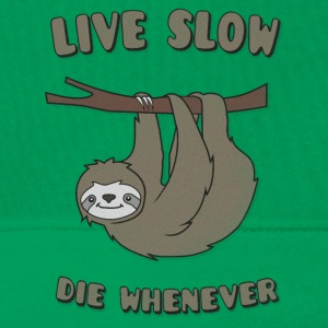 Funny & Cute Sloth Live Slow Die Whenever Slogan Bags & Backpacks - Men's Premium Hoodie