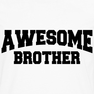 Awesome Brother T-shirts - Herre premium T-shirt med lange ærmer