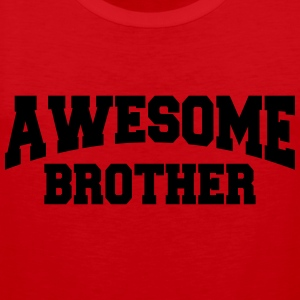 Awesome Brother T-shirts - Premiumtanktopp herr