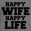 Happy Wife - Happy Life Gensere - Damegenser med båthals fra Bella