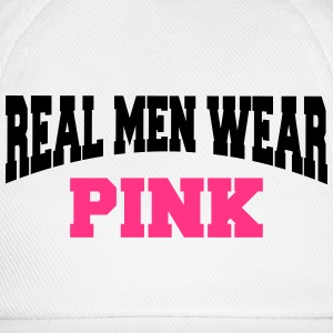 Real men wear pink T-skjorter - Baseballcap