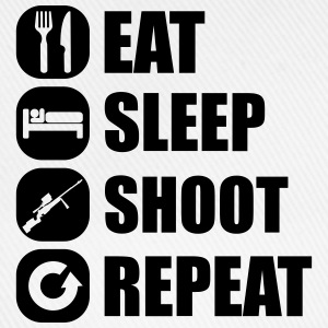 eat_sleep_weapon_repeat_6_1f T-shirts - Baseballkasket