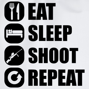 eat_sleep_weapon_repeat_6_1f T-shirts - Gymnastikpåse