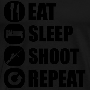 eat_sleep_weapon_repeat_6_1f Långärmade T-shirts - Premium-T-shirt herr