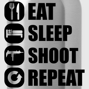 eat_sleep_weapon_repeat_5_1f Camisetas - Cantimplora