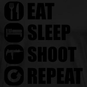 eat_sleep_weapon_repeat_5_1f Langarmshirts - Männer Premium T-Shirt