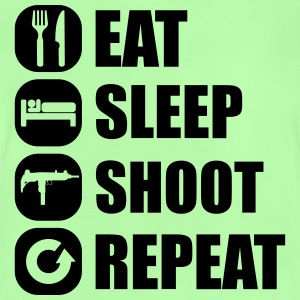 eat_sleep_weapon_repeat_5_1f T-Shirts - Baby T-Shirt