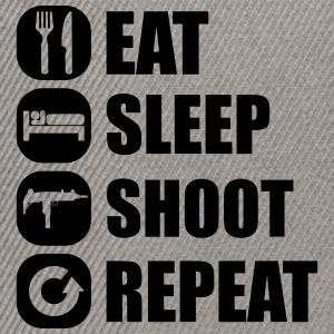 eat_sleep_weapon_repeat_5_1f T-shirts - Snapback Cap
