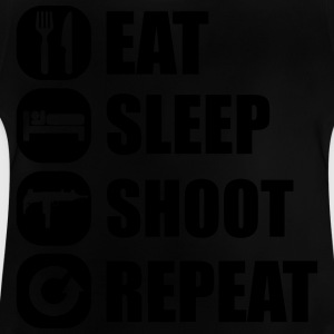 eat_sleep_weapon_repeat_5_1f T-shirts - Baby-T-shirt