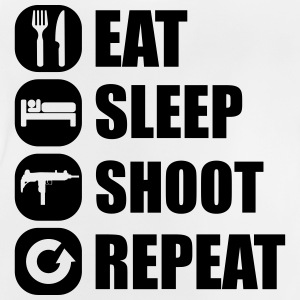 eat_sleep_weapon_repeat_5_1f Langærmede shirts - Baby T-shirt
