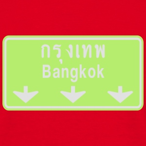 Bangkok Ahead ~ Watch Out! Thailand Traffic Sign - Men's T-Shirt