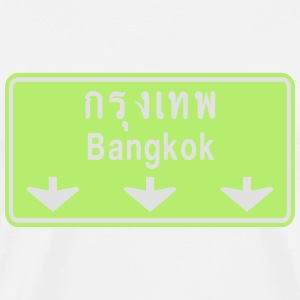 Bangkok Ahead ~ Watch Out! Thailand Traffic Sign - Men's Premium T-Shirt