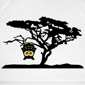 Owl Tree Hanging upside Different T-Shirts - Baseball Cap