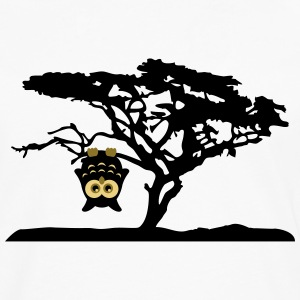 Owl Tree Hanging upside Different T-Shirts - Men's Premium Longsleeve Shirt