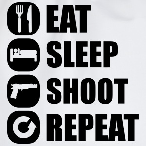 eat_sleep_weapon_repeat_2_1f Shirts met lange mouwen - Gymtas