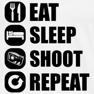 eat_sleep_shoot_repeat_7_1f Langarmshirts - Männer Premium T-Shirt