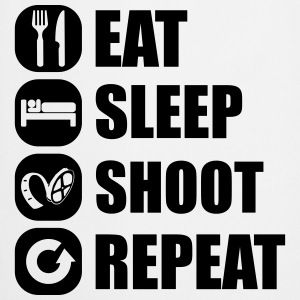eat_sleep_shoot_repeat_6_1f T-Shirts - Kochschürze