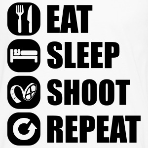 eat_sleep_shoot_repeat_6_1f T-shirts - Långärmad premium-T-shirt herr