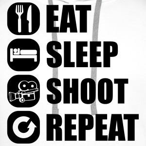 eat_sleep_shoot_repeat_4_1f T-Shirts - Men's Premium Hoodie