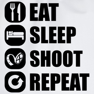 eat_sleep_shoot_repeat_6_1f T-Shirts - Turnbeutel
